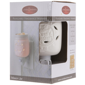 White Mason Jar Plug In Fragrance Warmer