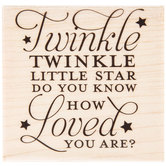 Twinkle Little Star Rubber Stamp