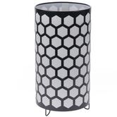 White & Navy Honeycomb Uplight Lamp