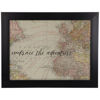 Embrace The Adventure Framed Wall Decor
