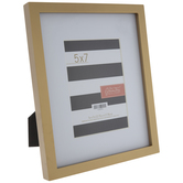 "Gold Flat Wood Frame - 5"" x 7"""