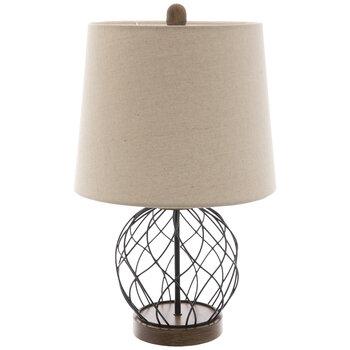 Black Wire Metal Ball Lamp