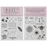 Alphabet & Flowers Temporary Tattoos