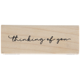 Thinking Of You Rubber Stamp