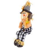 Scarecrow Holding Shovel Plush Sitter