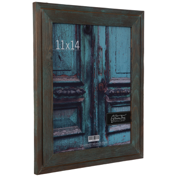 Turquoise Wash Wood Wall Frame