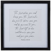 Numbers 6:24-26 Framed Wood Wall Decor