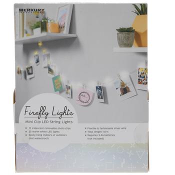 Iridescent Mini Clip LED Firefly String Lights