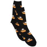 Black Pumpkin Pie Crew Socks