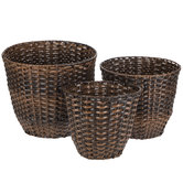 Brown Round Basket Set
