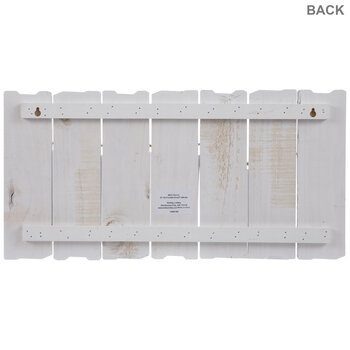 White Plank Wood Clip Collage Wall Frame