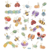 Thumbprint Bug Foil Stickers