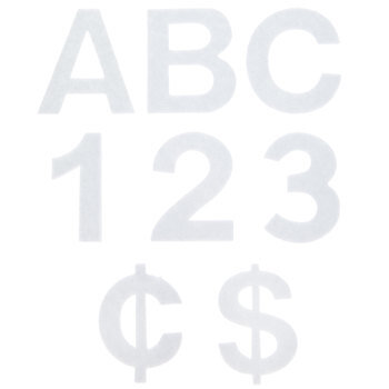 """White Adhesive Felt Letters & Numbers - 2"""""""
