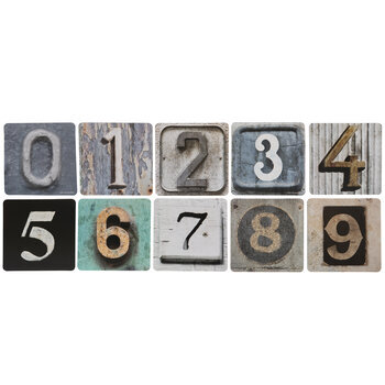 Rustic Number Cutouts