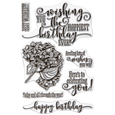 Floral Birthday Clear Stamps