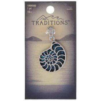 Abalone Ammonite Pendant