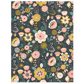 "Hello Darling Floral Scrapbook Paper - 8 1/2"" x 11"""