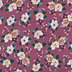 Mauve Floral Knit Fabric