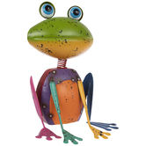 Multi-Color Distressed Metal Frog