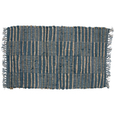 Teal & Beige Woven Patchwork Placemat