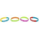 Happy Birthday Two-Tone Bracelets