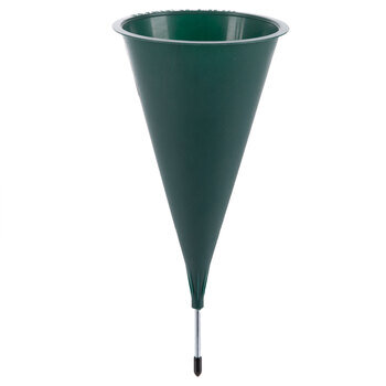 Green Cemetery Vase