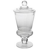 Glass Ridged Apothecary Jar