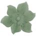 Green Flower Ring Holder