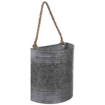 Gray Metal Wall Bucket