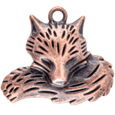 Curled Fox Charm