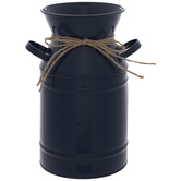 Blue Metal Milk Can Container