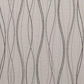 Cream, Gray & Black Wavy Dashed Lines Fabric