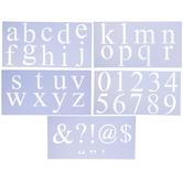 Roman Lowercase Alphabet & Number Stencils