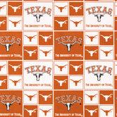Texas Block Collegiate Cotton Fabric