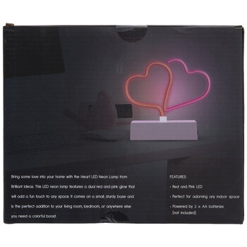 Red & Pink Hearts LED Neon Sign