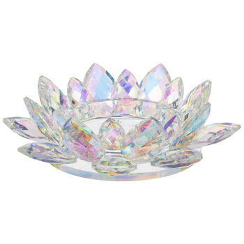 Iridescent Lotus Candle Holder