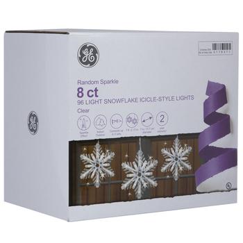 Sparkle Snowflake Icicle Lights