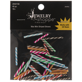Assorted Colors Mini Striped Straw Filler