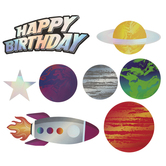 Happy Birthday Planets Holographic Cutouts