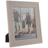 "Off-White Wood Look Scoop Frame - 8"" x 10"""