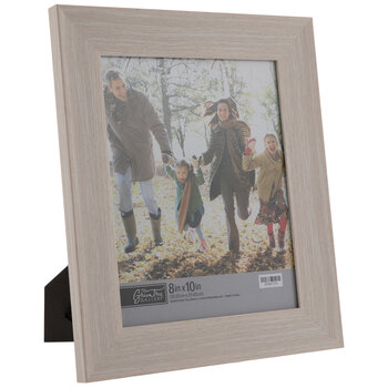"Off-White Wood Look Scoop Frame - 8"" x 10"""