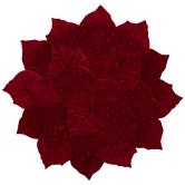 Red Velvet Poinsettia Placemat