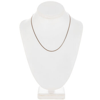 """Delicate Curb Chain Necklace - 18"""""""