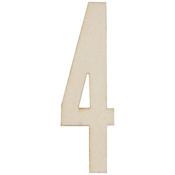 Vintage Sign Wood Numbers - 4