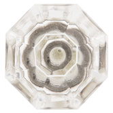 Octagonal Faceted Glass Knob