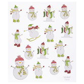 Snowman & Stocking Glitter Stickers