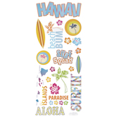 Hawaiian Vacation Stickers