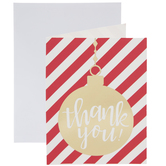 Gold Ornament Thank You Cards