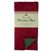 Red & Green Reversible Swirl Drying Mat