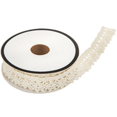 Ivory Cotton Lace Trim - 5/8""